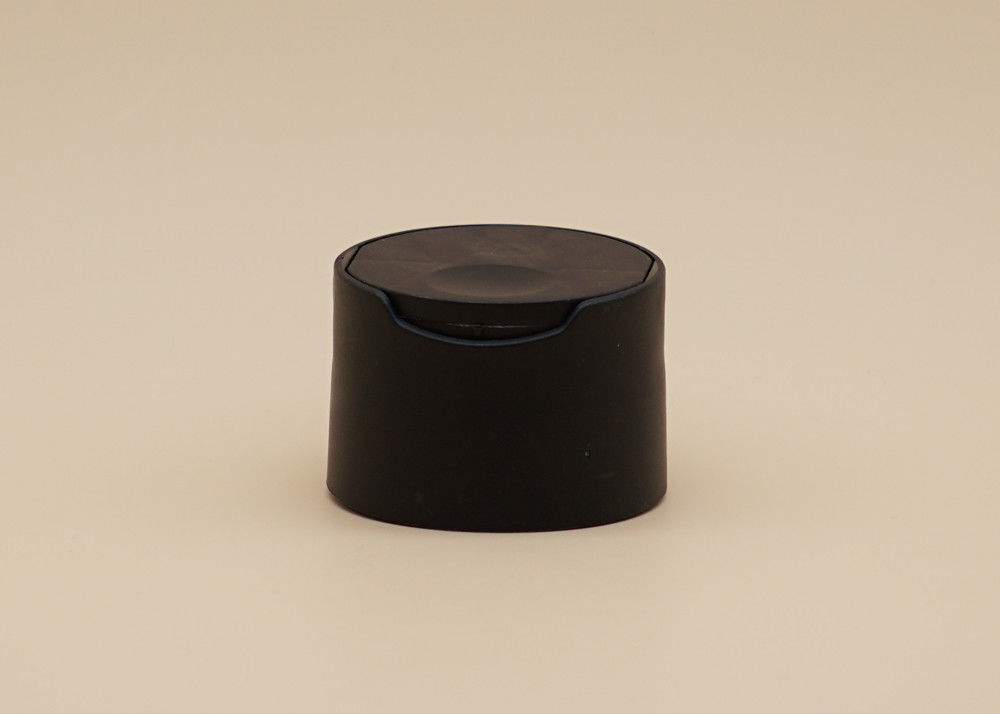 28 / 410 Plastic Disc Cap Matte Black Color OEM Available For Personal Care